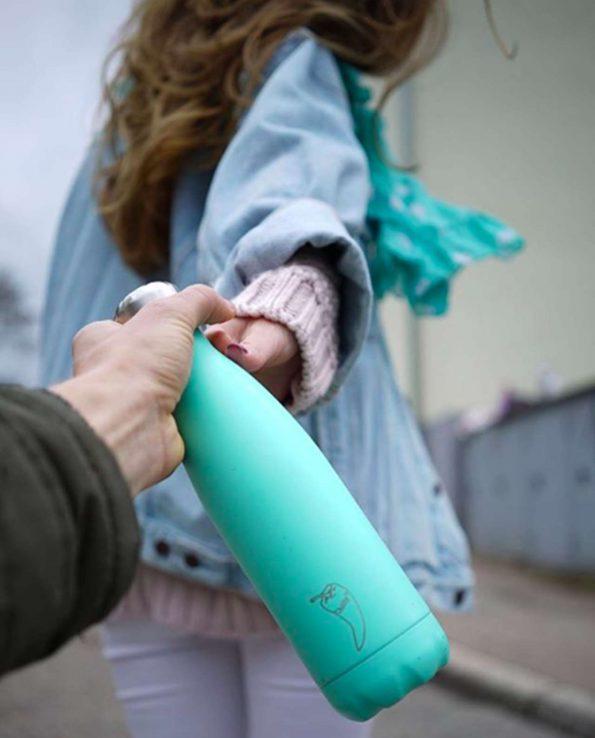 Botella térmica Chilly's verde pastel mint de 500ml