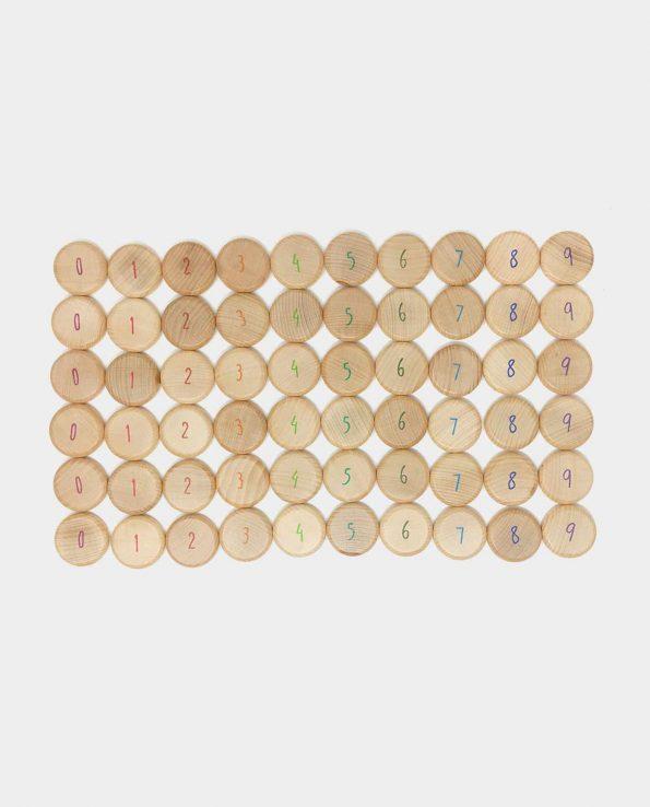 Monedas para contar de madera de Grapat Panera de los tesoros