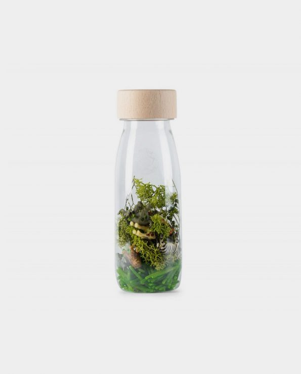Botella sensorial Petit Boum Spy Bottle Jungle
