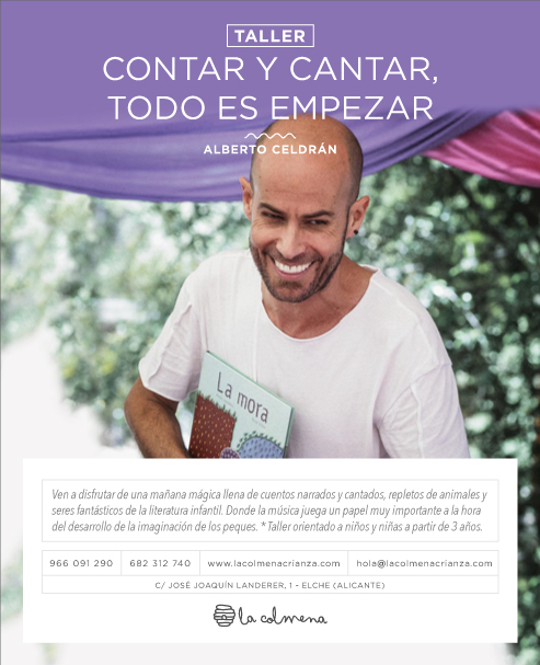 Taller de Alberto Celdrán Contar y cantar todo es empezar. Taller cuentacuentos con musica