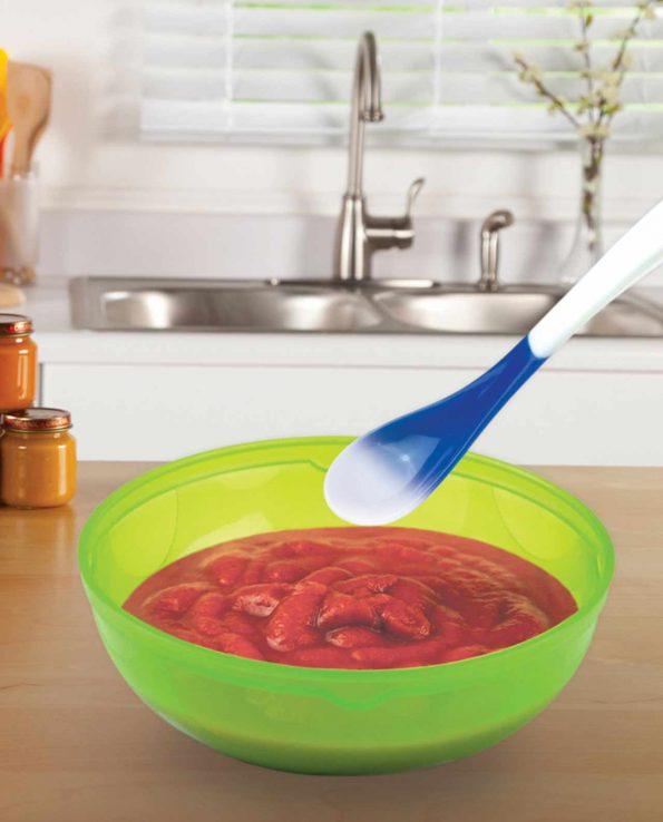 Pack de 4 cucharas termosensibles que cambian de color cuando la comida está caliente de Munchkin