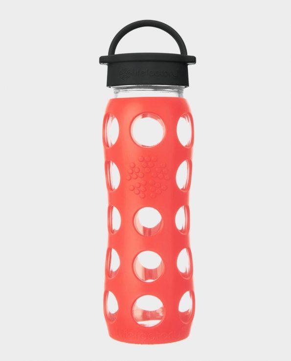 Botella 650 ml Lifefactory Tapón Rosca con asa Rojo