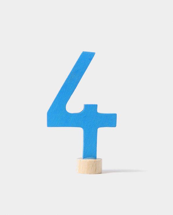 Número en madera de Grimm's. Número 4