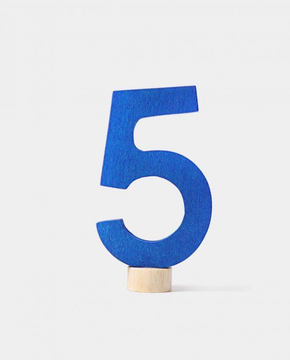 Número en madera de Grimm's. Número 5