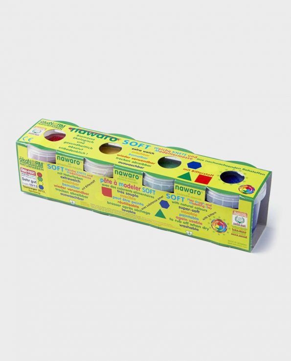 Pack de 4 botes de plastilina ecológica natural sin toxinas de Okonorm