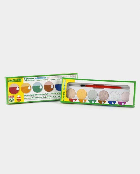 Pack de 6 acuarelas ecológicas y naturales para niños de Okonorm