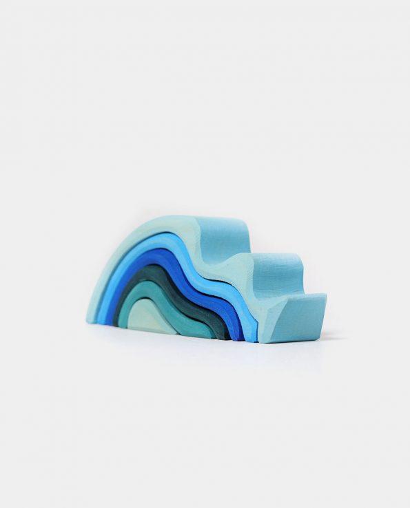 Small waterwaves olas pequeñas de grimms figuras de madera