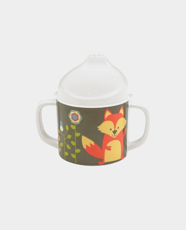 Taza fox sippy cup para bebes y niños para beber fácil