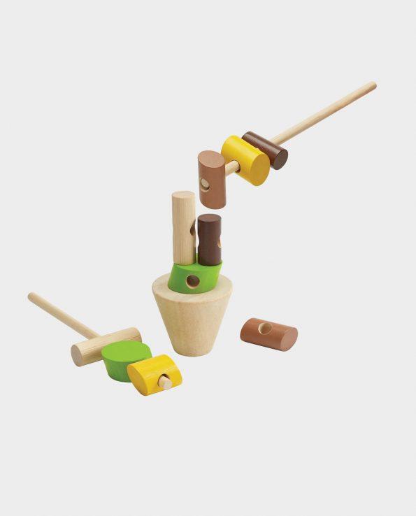 Juego de habilidad para niños Apila los Troncos de Plan Toys