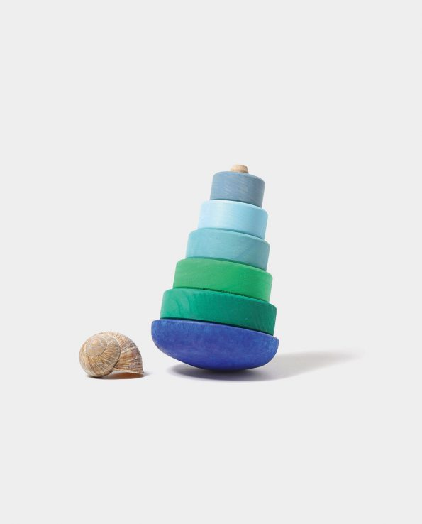 Blue Wobbly Stacking Tower Grimms