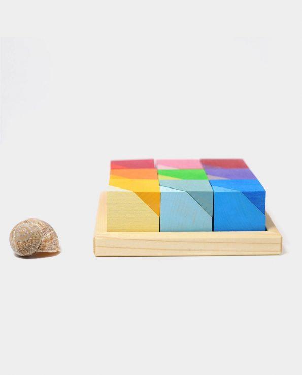 Cornerstones Grimm's. Piezas de madera montessori para circuitos con bolas.