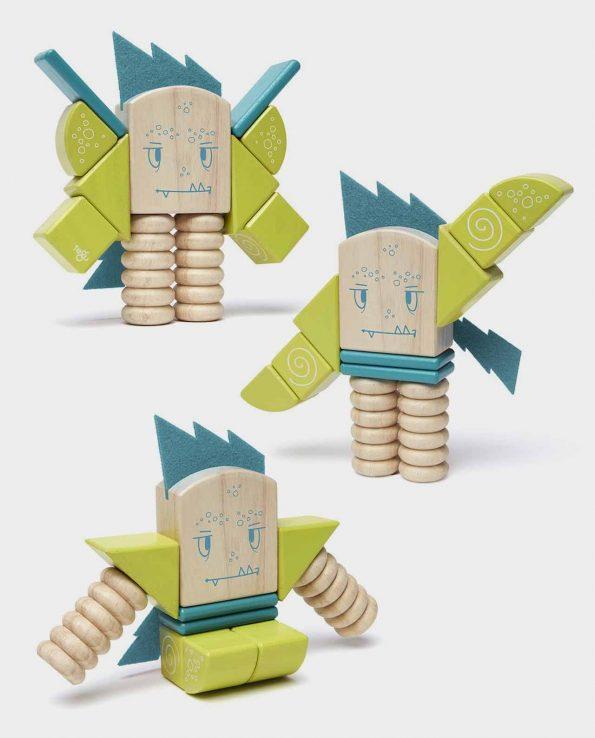 Monstruo de madera desmontable imantado Sticky Monster Zip Zap de Tegu