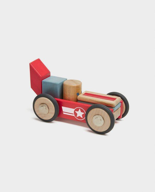 Coche de carreras de madera desmontable imantado de Tegu
