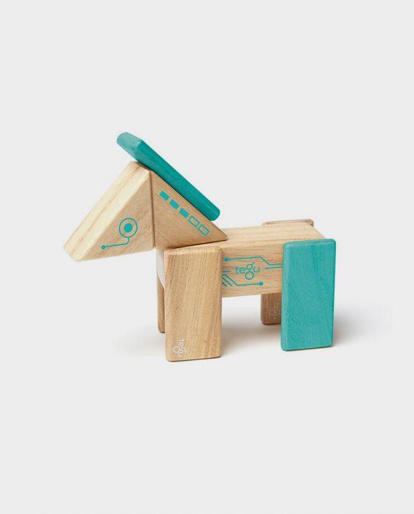 Caballo de madera desmontable imantado de Tegu