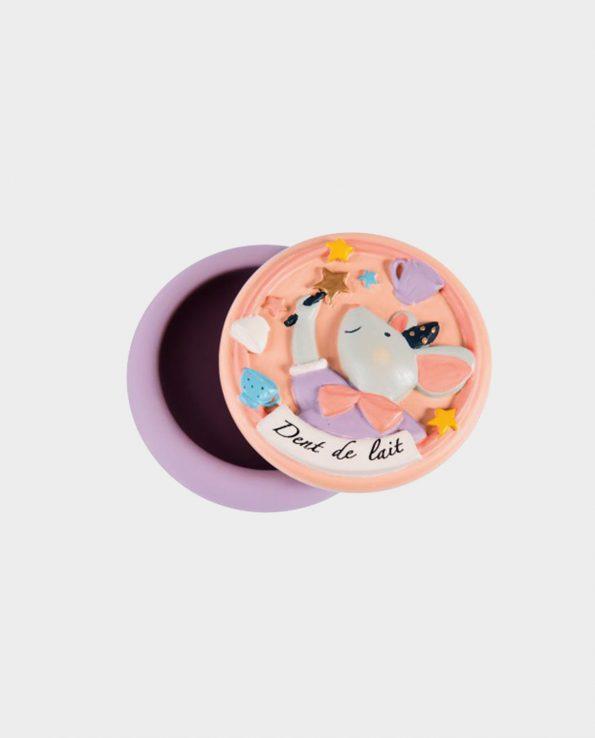 Cajita para guardar los dientes de leche de color rosa de Moulin Roty