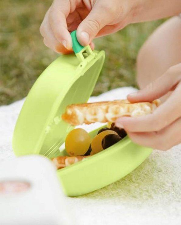 Caja de merienda para niños Monbento color verde