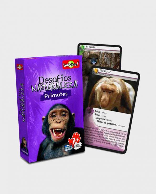 Juego de cartas para niños Bioviva Edición Primates