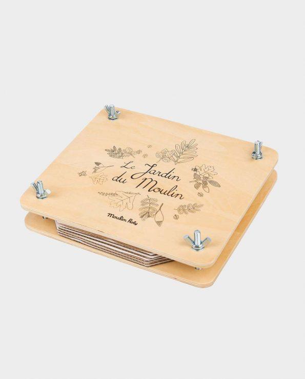 Prensa de flores de madera para niños de Moulin Roty