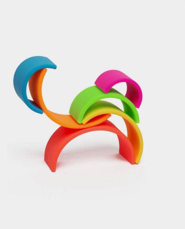 Arcoiris mini de silicona color neon de 6 piezas de la marca Dëna