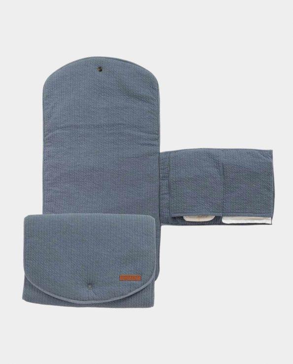 Cambiador portatil sencillo minimalista bonito elegante Confort Azul LITTLE DUTCH