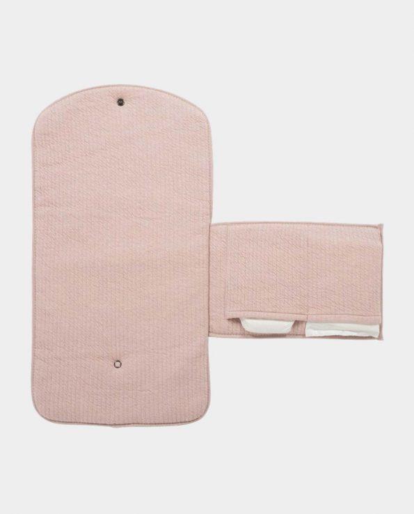 Cambiador portatil sencillo minimalista bonito elegante Confort Rosa LITTLE DUTCH