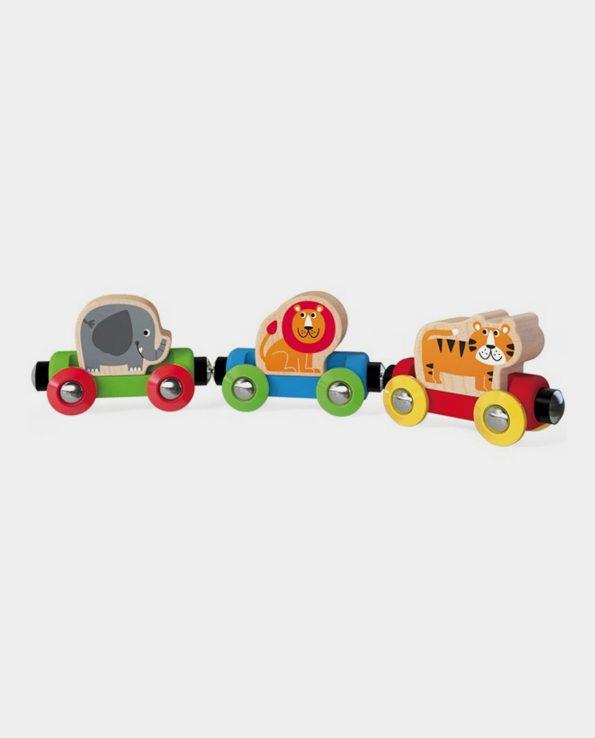 Tren animales jungla para niños magnetico HAPE