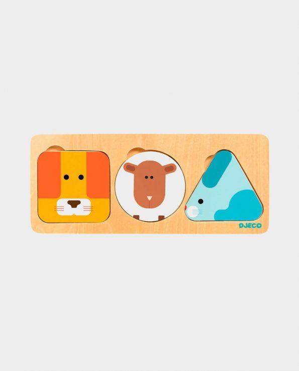 Encajable de madera para bebes con animales Anima Basic de Djeco