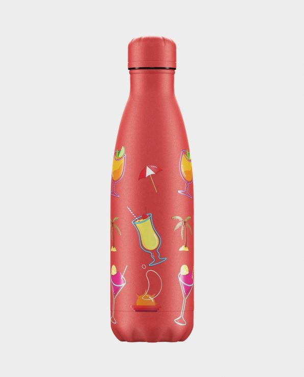 Botella termica o termo de 500ml 1 litro pool party ocaso coral de Chilly