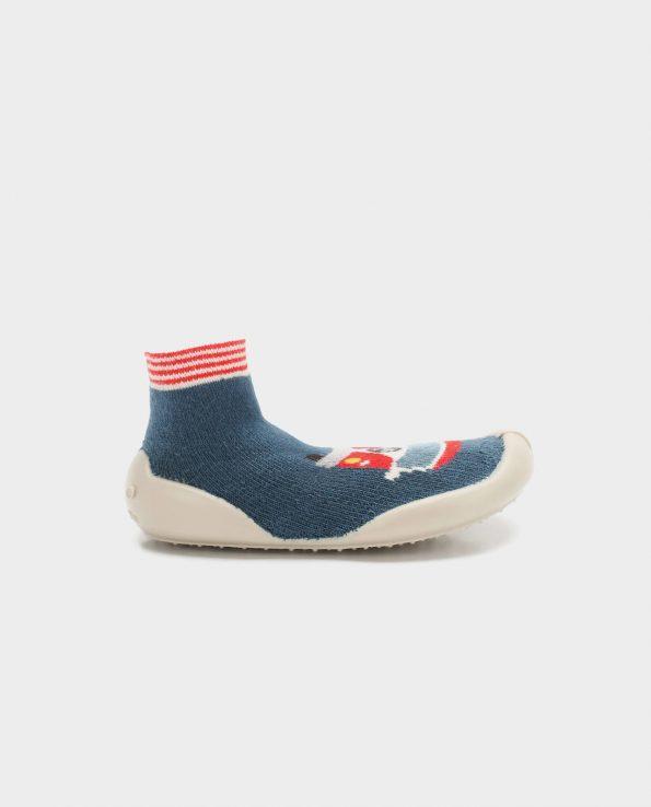 Calcetines con forma de zapato ergonómico para niño para interior de casa