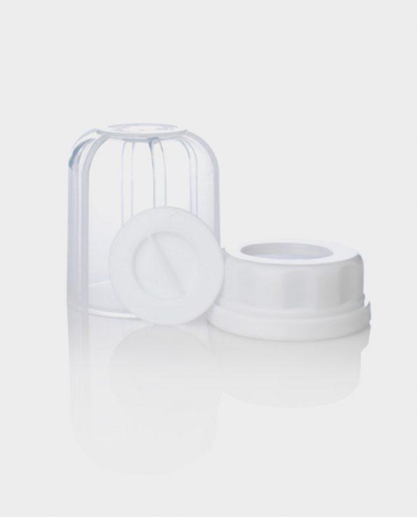 Set de tapa, tapón y rosca de repuesto de botella de bebe lifefactory