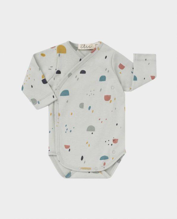 Body cruzado para bebe de manga larga de Clic Mini 100% algodón