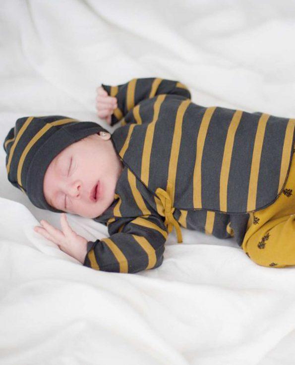 Conjunto de jubon y polaina para bebes de 0 a 6 meses de clic mini