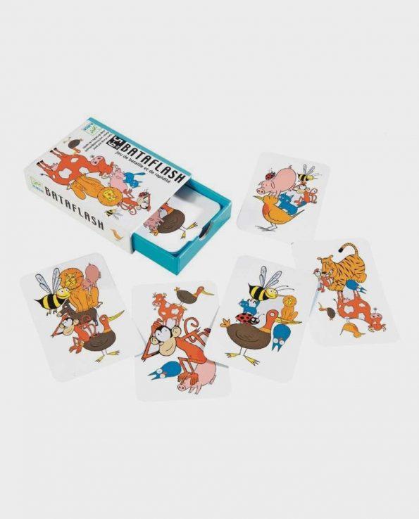 Juego de cartas para niños Bataflash de Djeco