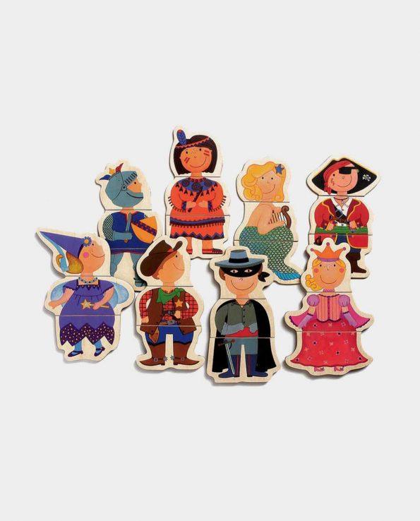 Disfraces Magnéticos juego de madera para niños de Djeco