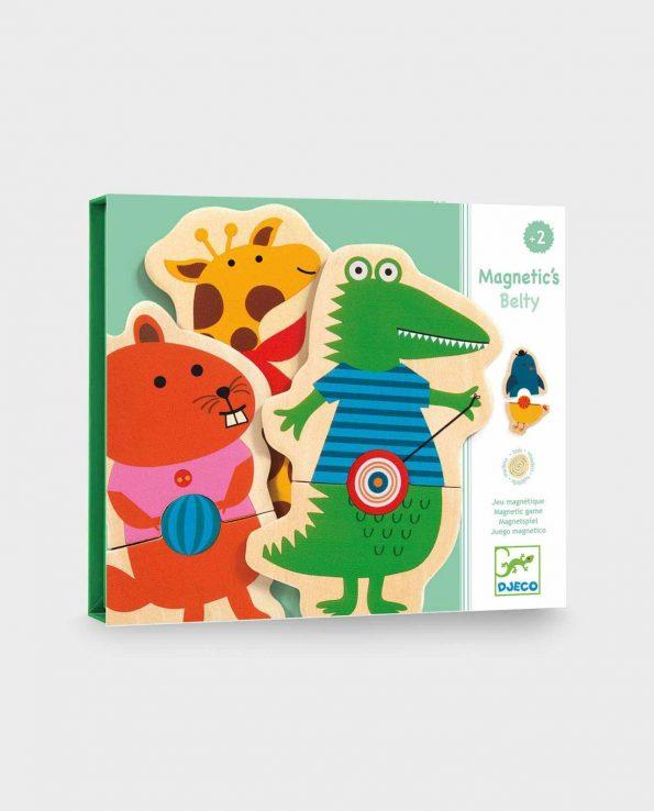 Juego de niños magnéticos para formar criaturas y animales con diferentes cuerpos