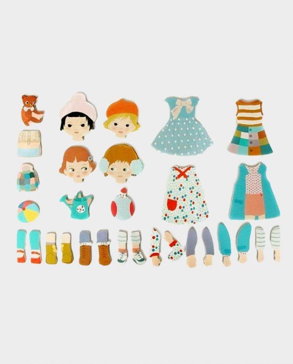 Juego magnetico para niños para cambiar la ropa a los muñecos Magnetics La moda djeco