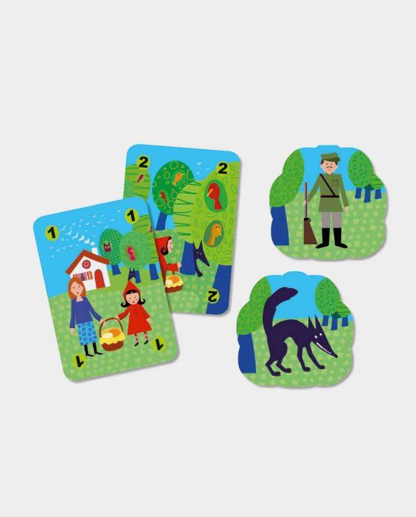 Juego de cartas para niños Caperucita Roja Mechanlou de Djeco