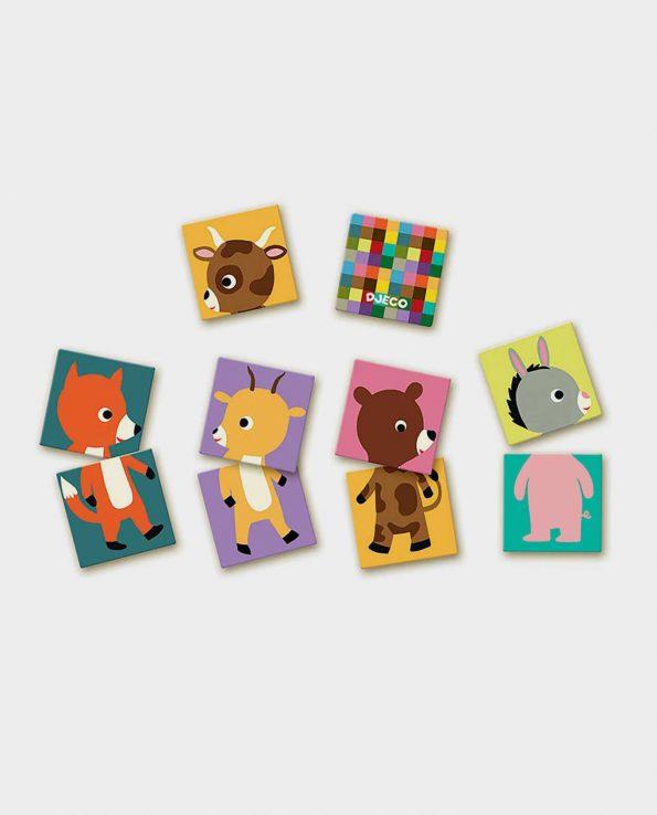 Puzzle para niños Memo animals de Djeco
