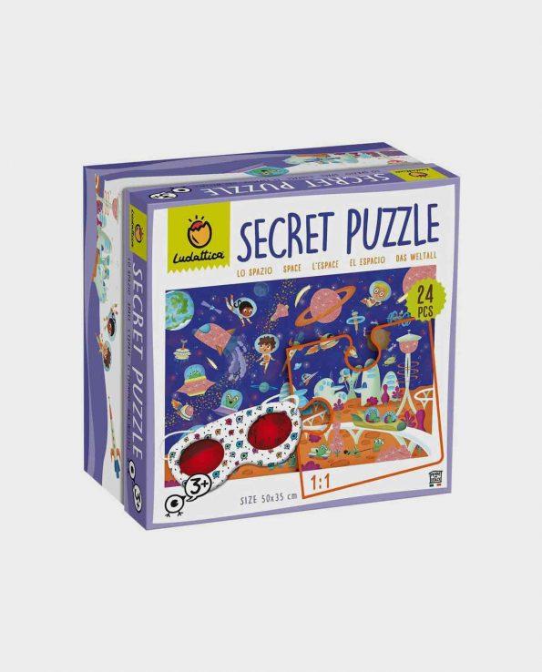 Puzzle secreto el espacio para niños