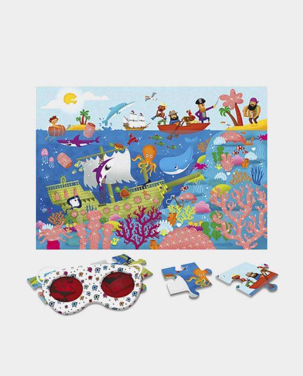 Puzzle secreto el mar para niños