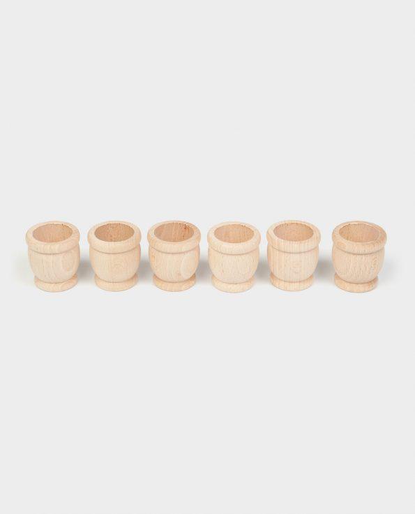 6 mates de madera en crudo de Grapat
