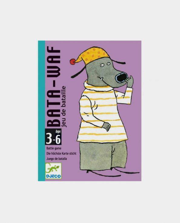 Juego de cartas para niños animales Bata Waf de Djeco