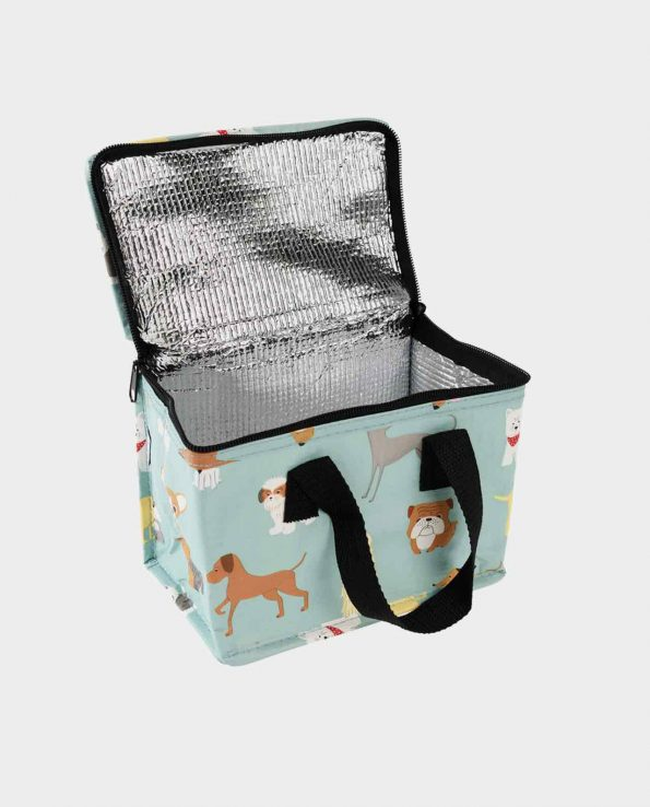 Bolsa térmica para niños para el parque y la merienda estampada con perros