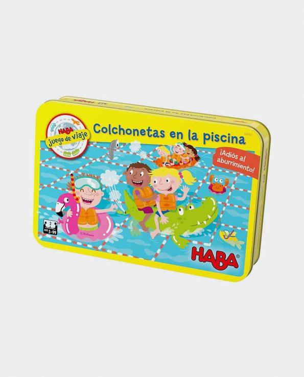 Juego de mesa para niños para llevar de viaje en el coche y en el avión Colchonetas en la piscina de Haba