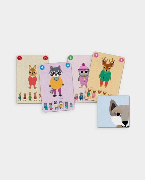 Juego de cartas para niños Familou de Djeco