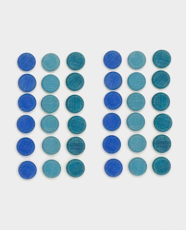 Mandala de monedas pequeñas azules de Grapat