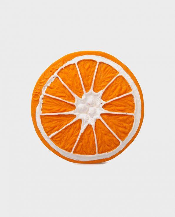 mordedor para bebes de fruta oli and carol clementino the orange naranja