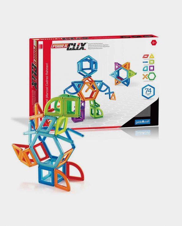 Juego magnetico para niños Power Clix de 74 piezas