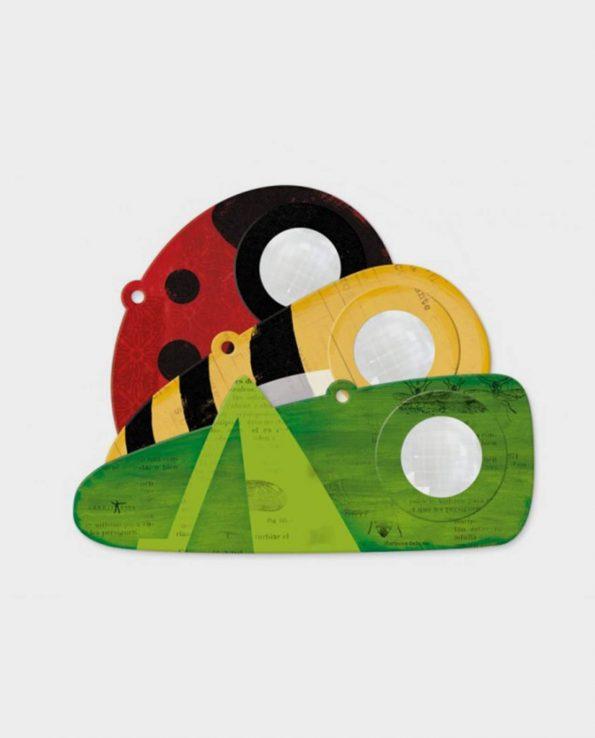Caleidoscopio con ojo de insecto para niños de cartón rígido con forma de insectos de Londji