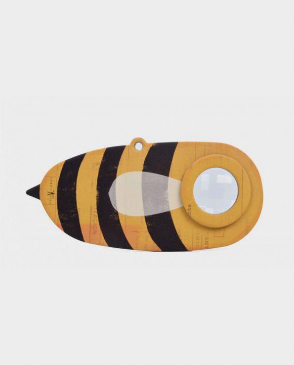 Caleidoscopio con ojo de insecto para niños de cartón rígido con forma de abeja de Londji